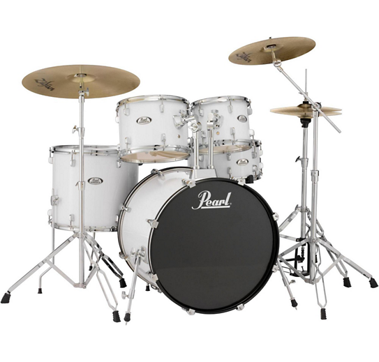 pearl soundcheck complete 5 pc drum set with hardware and zildjian planet z cymbals mousai center. Black Bedroom Furniture Sets. Home Design Ideas